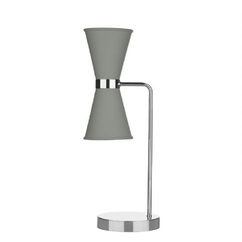 Hyde Table Lamp Chrome + Powder Grey Metal Shade HYD4239C (7-10 day Delivery)